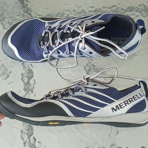 Merrell Barefoot Blue Depths Silver Trail Glove